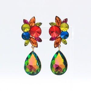 Crystal Clip-on Drop Earrings